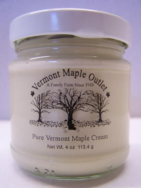 MAPLE CREAM 4 Oz. GLASS